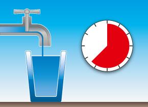 Wasserventil geschlossen