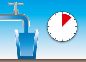 Wasserventil offen