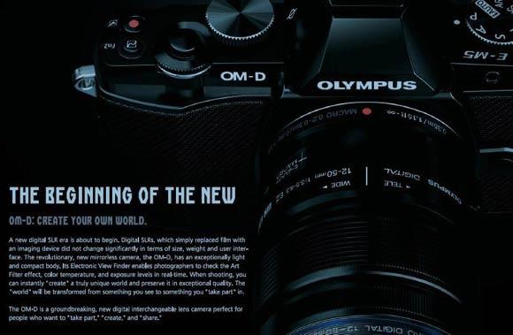 Olympus OM D brochure