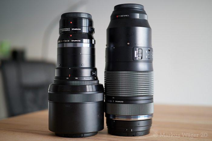 Olympus M.Zuiko 40mm–150mm ƒ2.8 Pro + MC-20 und M.Zuiko 100mm–400mm ƒ5–6.3